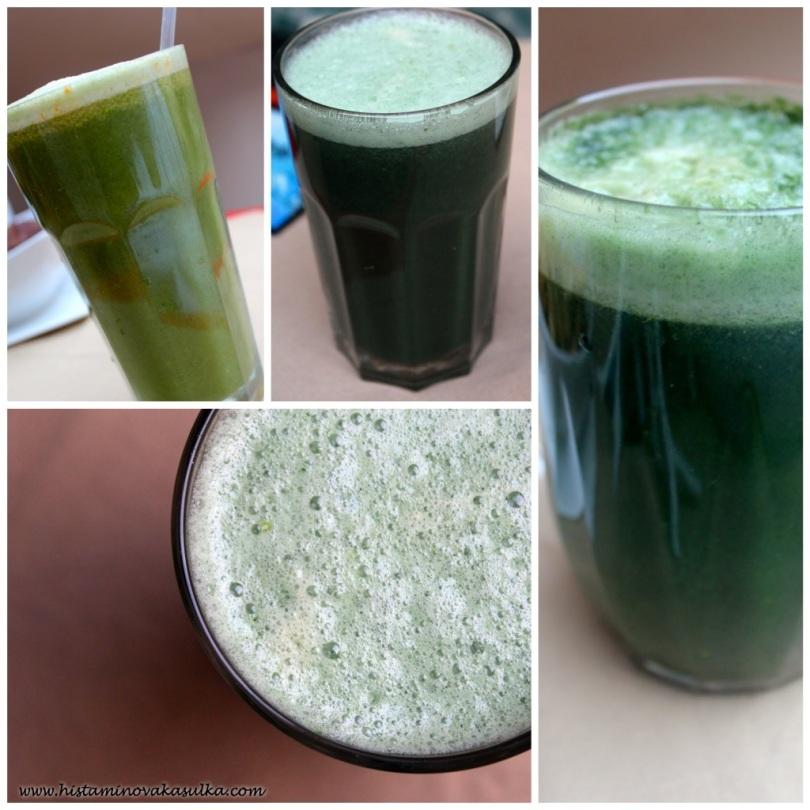 Salát-brokolice-jablko-spirulina (a bylinky)