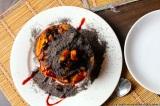 Podzimní dezert pro chladné večery aneb dýně pečená se švestkou, hruškou amákem